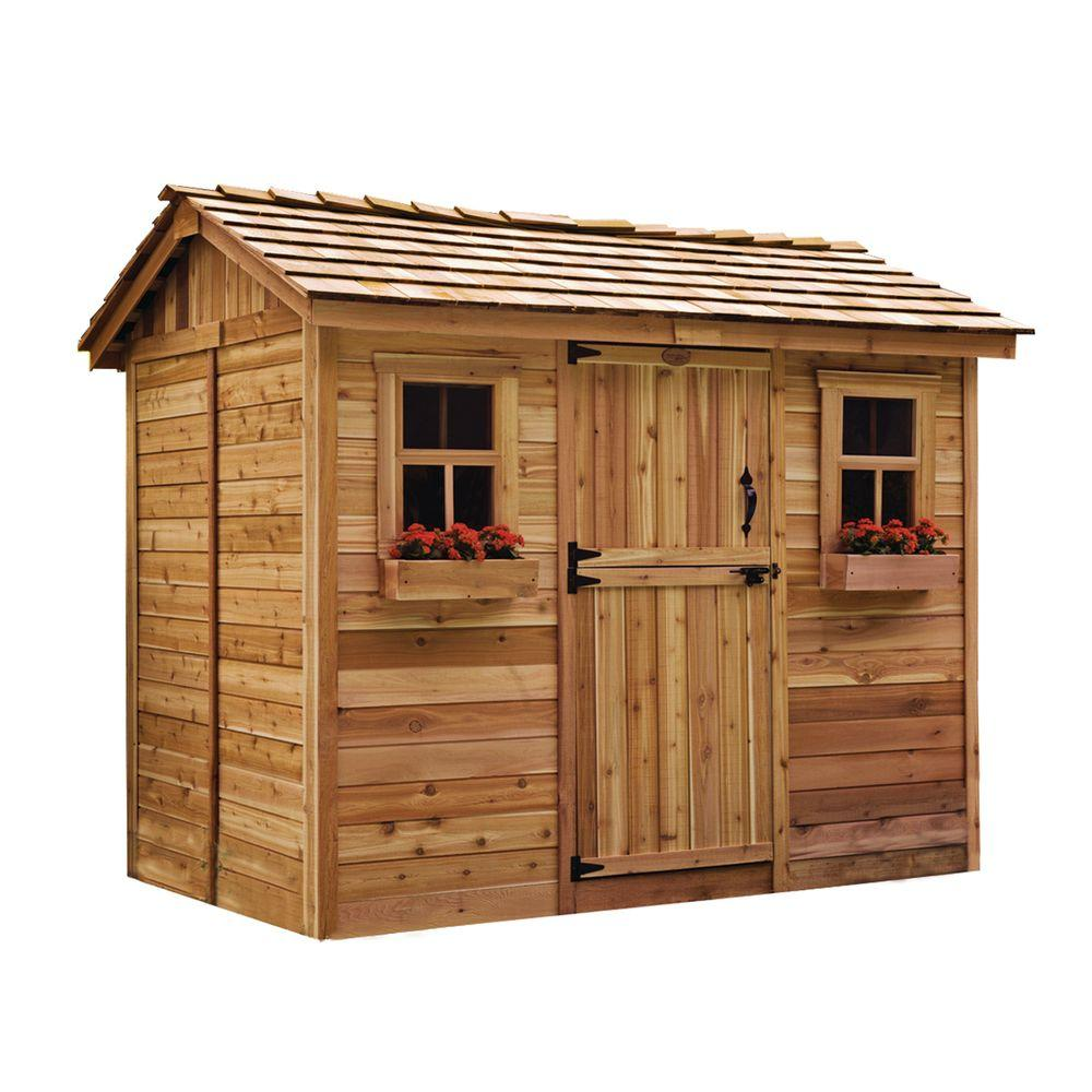 outdoor living today cabana 6 ft x 9 ft western red cedar garden shed - Garden Sheds 9x6