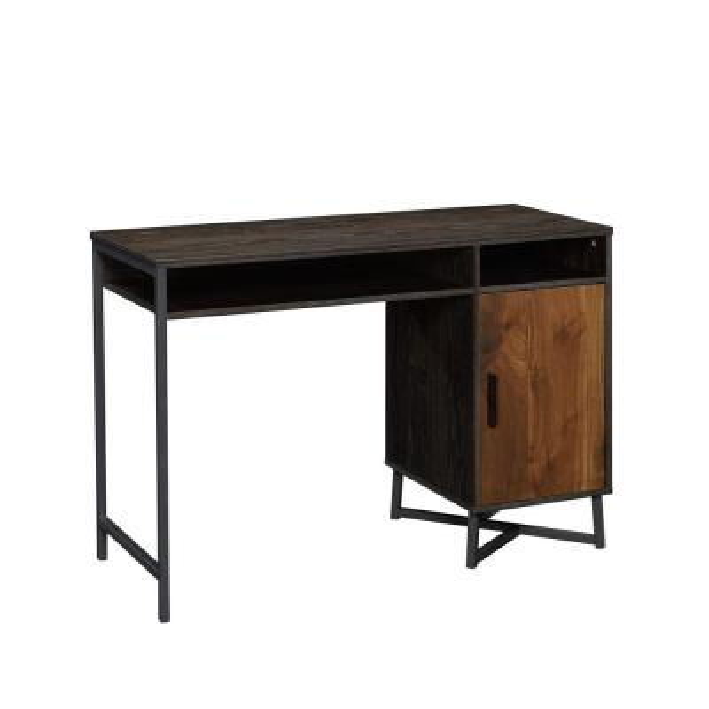 45 in. Rectangular Brew Oak/Grand Walnut Computer Desk with Adjustable Shelves
