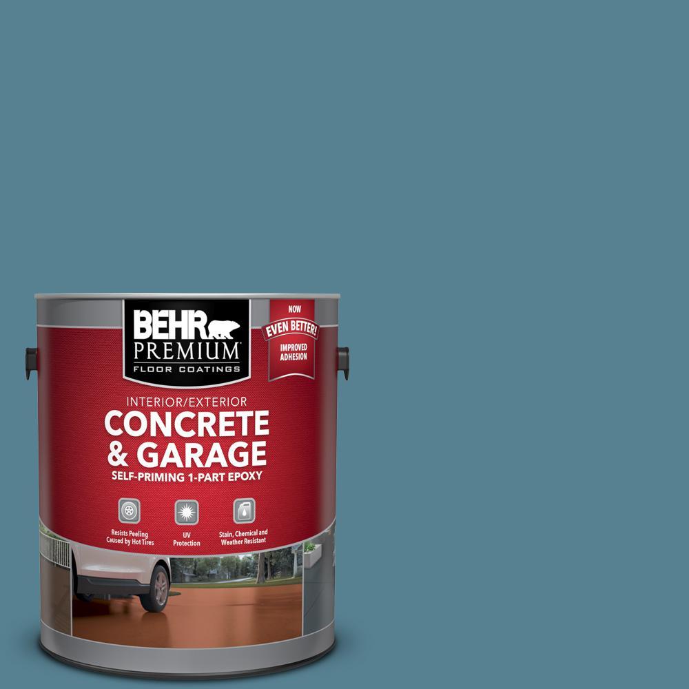 1 gal. #S470-5 Blueprint Self-Priming 1-Part Epoxy Satin Interior/Exterior Concrete and Garage Floor Paint