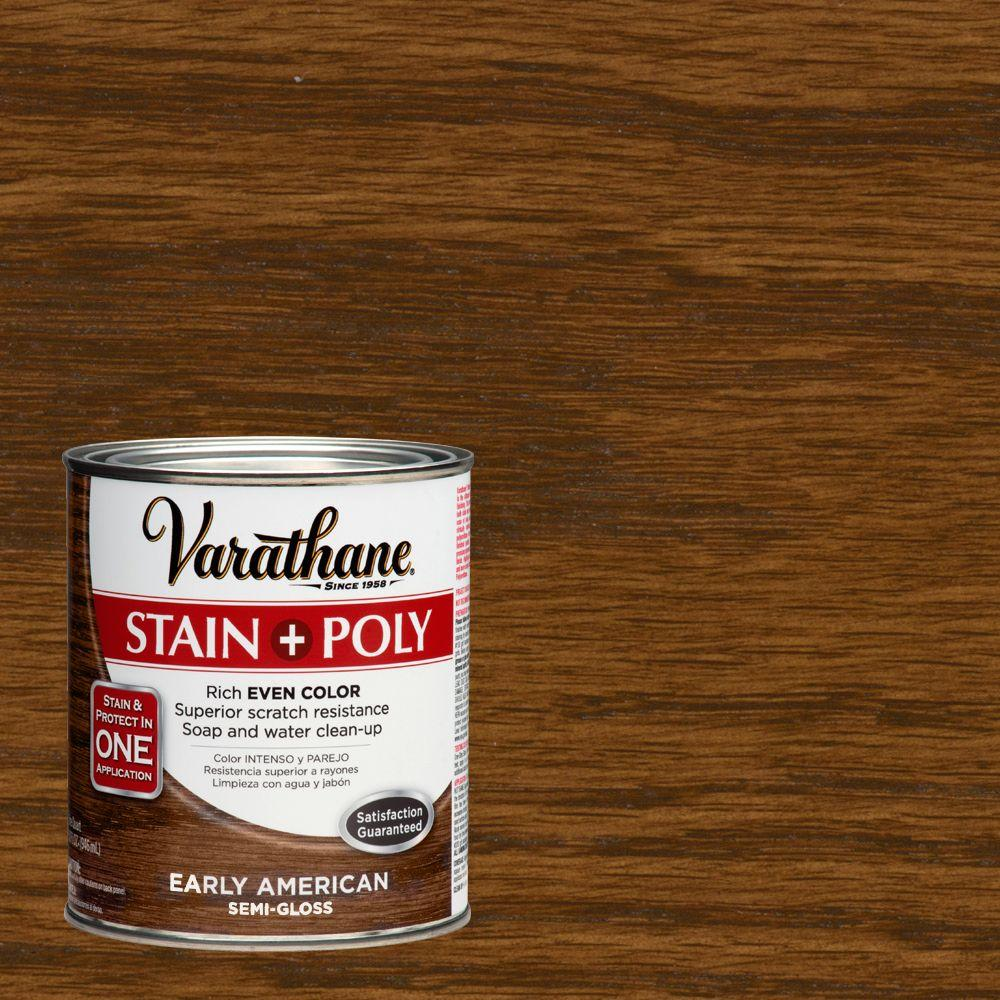 Varathane 1-qt. Early American Stain and Polyurethane (Case of 2)