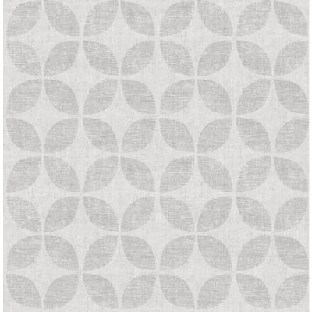 Polaris Silver Geometric Wallpaper