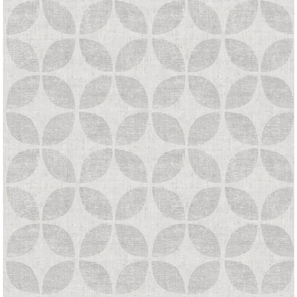 Polaris Silver Geometric Wallpaper Sample