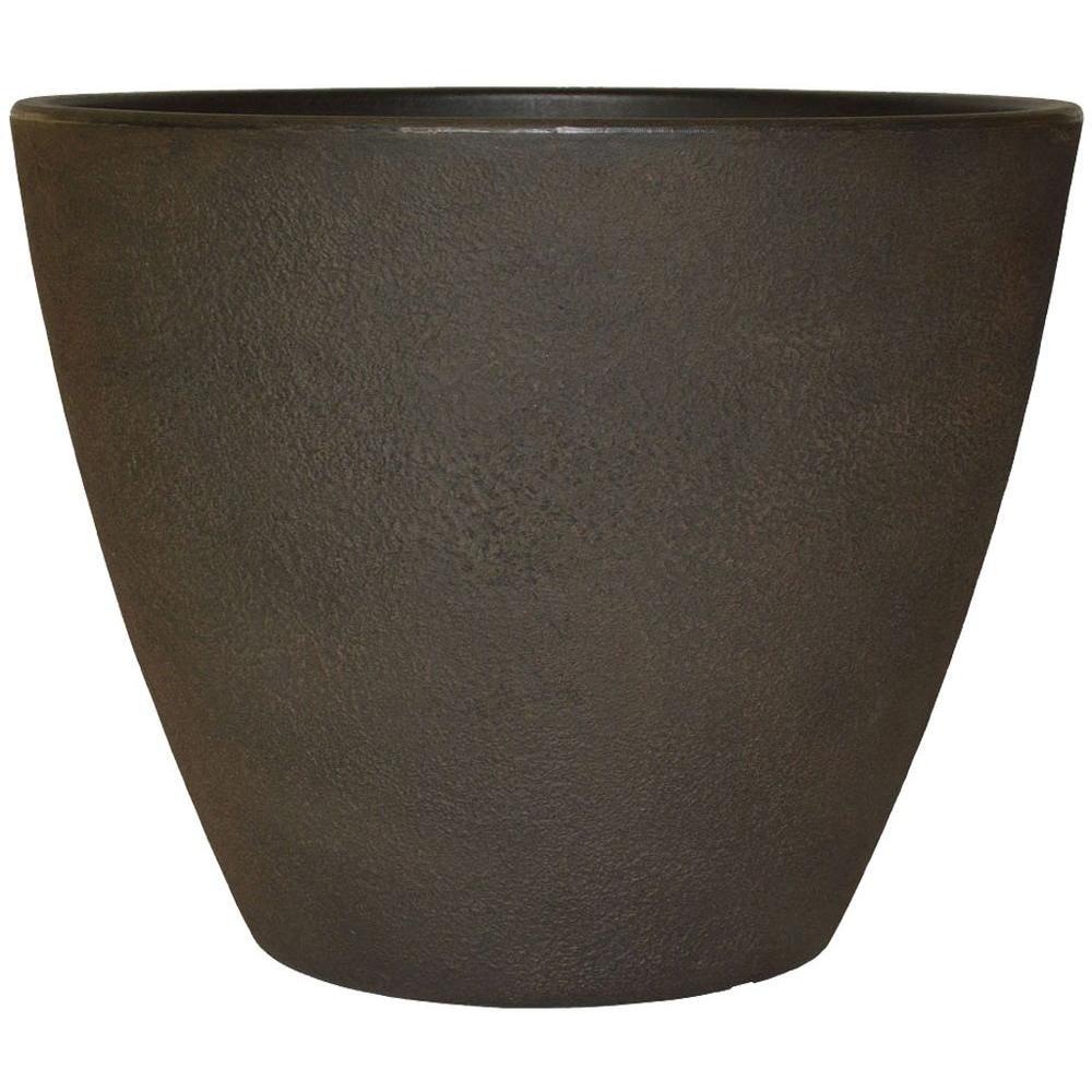 Planters Online 20 in. Round Rust Resin Acorn Planter