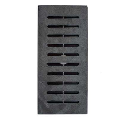 Made2Match Montauk Black Gauged Slate 5 in. x 11 in. Floor Vent Register Tile Edging Trim