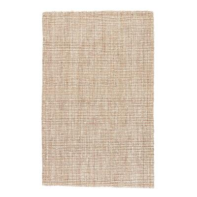 Natural Tan 8 ft. x 10 ft. Solid Area Rug