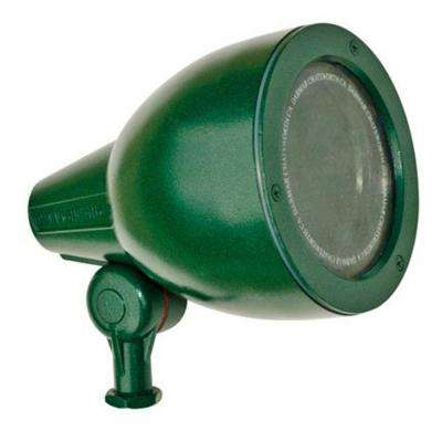 Skive 1-Light Green Outdoor Directional Spot Light