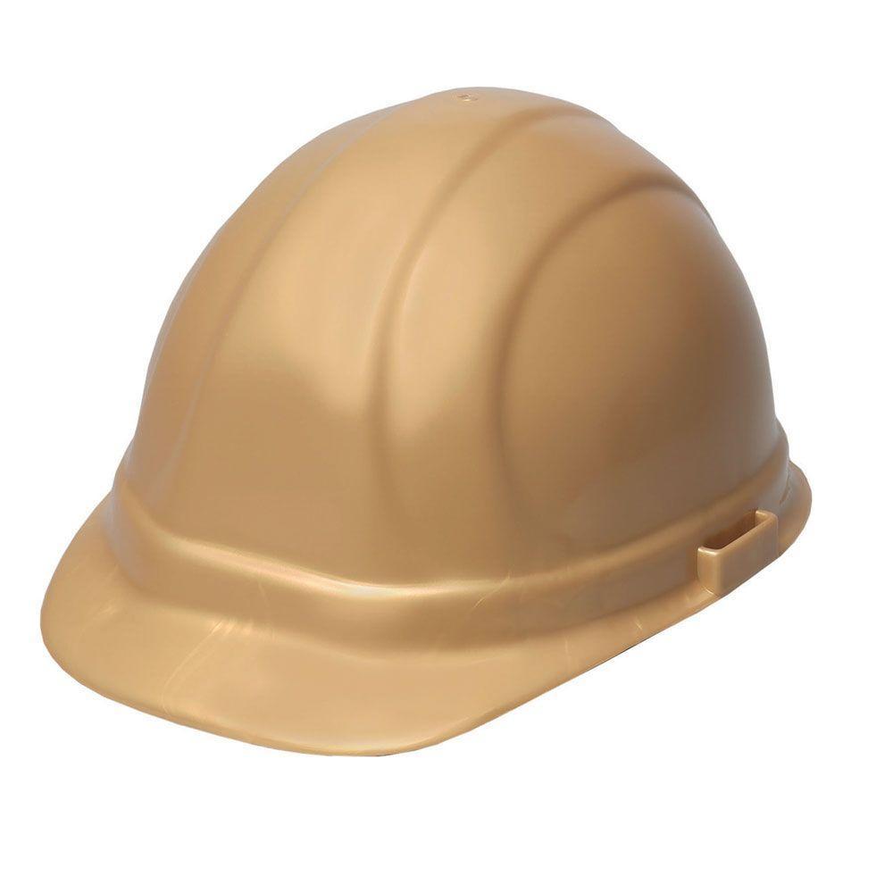 Omega II 6 Point Suspension Nylon Mega Ratchet Cap Hard Hat in Gold