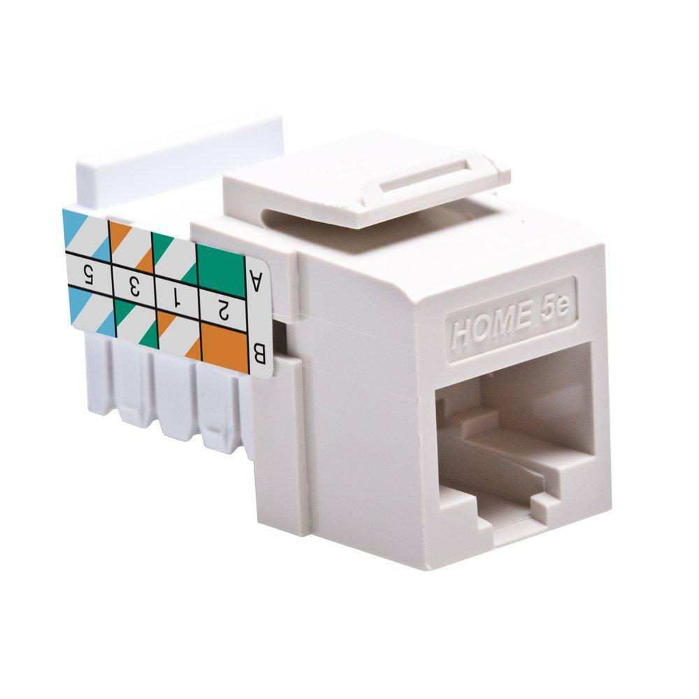Leviton Wall Jacks Plates The Home Depot Biscuit Jack Wiring Quickport