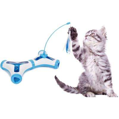 Blue Kitty-Tease Interactive Cognitive Training Puzzle Cat Toy Tunnel Teaser