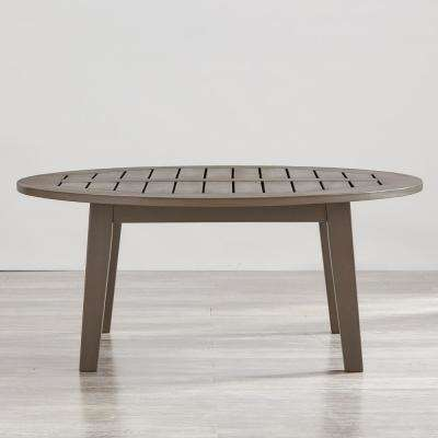 Verdon Gorge Gray Oiled Wood Outdoor Coffee Table