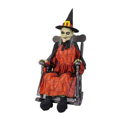 51 in. Animated Witch in Rocking Chair