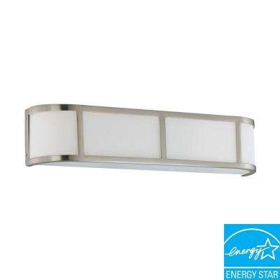 3-Light Brushed Nickel Fluorescent Sconce