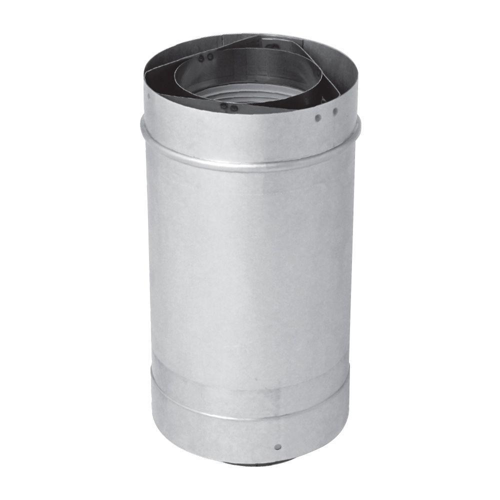 Rheem 12 In Vent Length 3 X 5 In Stainless Steel