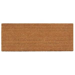 A1HC First Impression PVC Tufted Plain 30 inch x 48 inch Coir Door Mat with More Clean Area by