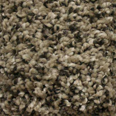 Carpet Sample - Stonewall II - Color Rustic Charm Texture 8 in. x 8 in.