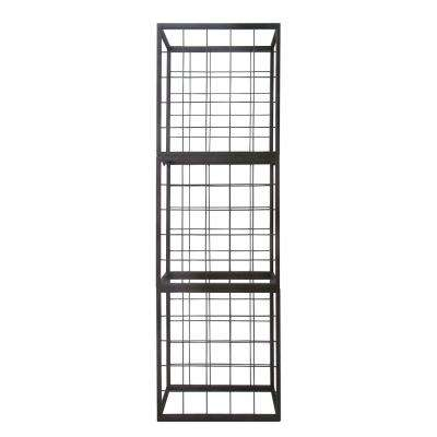 25-Bottle Brown Stackable Wire Wine Rack