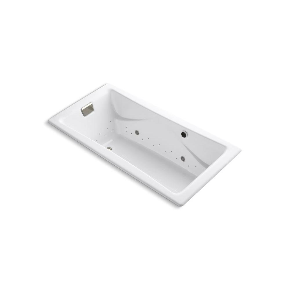 KOHLER Tea-for-Two 6 ft. Rectangle Air Bath Tub in White
