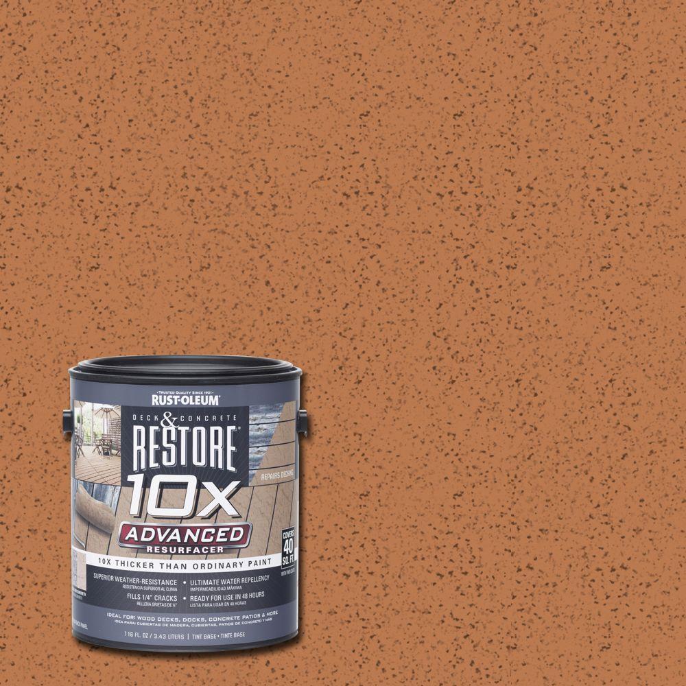 1 gal. 10X Advanced Cedartone Deck and Concrete Resurfacer