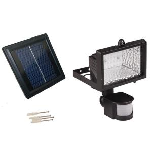 Solar Goes Green Solar Powered 50 ft. Range Black Motion Outdoor 28-LED Security Flood Light by Solar Goes Green