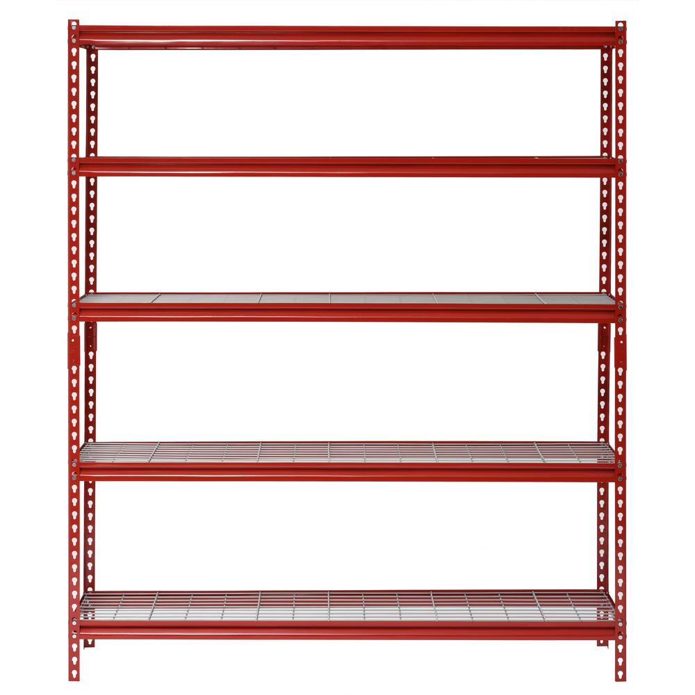 Muscle Rack 72 in. H x 60 in. W x 24 in. D 5-Shelf Z-Beam ...