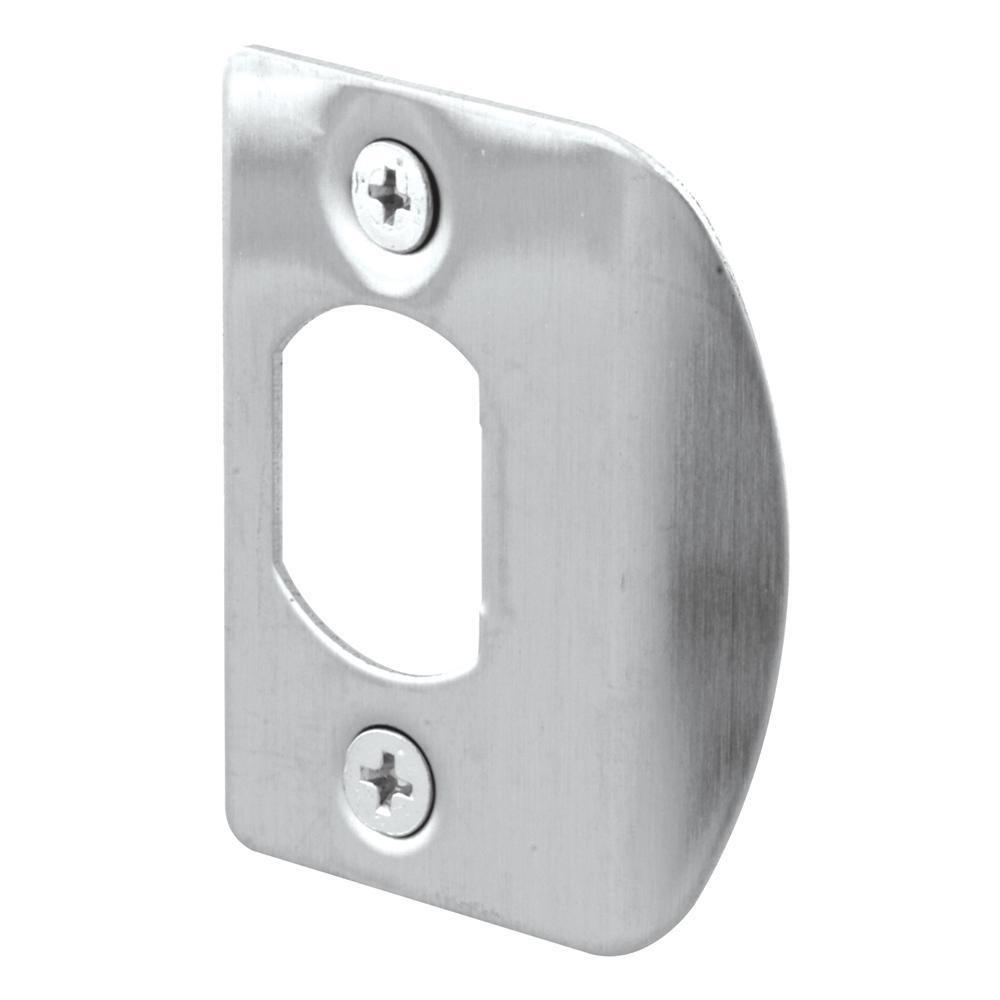 Prime Line Stainless Steel Door Jamb Strike Plate 2 Pack
