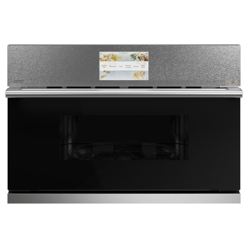 Cafe 1.7 cu. ft. Built-In Convection Microwave in Platinum Glass