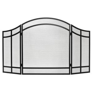 Exceptional Home Decorators Collection Salishan 3 Panel Fireplace Screen FA101SA   The Home  Depot