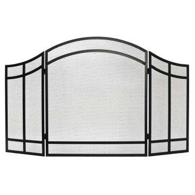 Salishan 3 Panel Fireplace Screen
