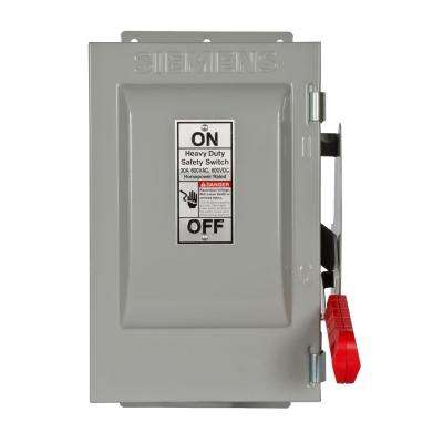 Heavy Duty 30 Amp 600-Volt 2-Pole Type 12 Non-Fusible Safety Switch