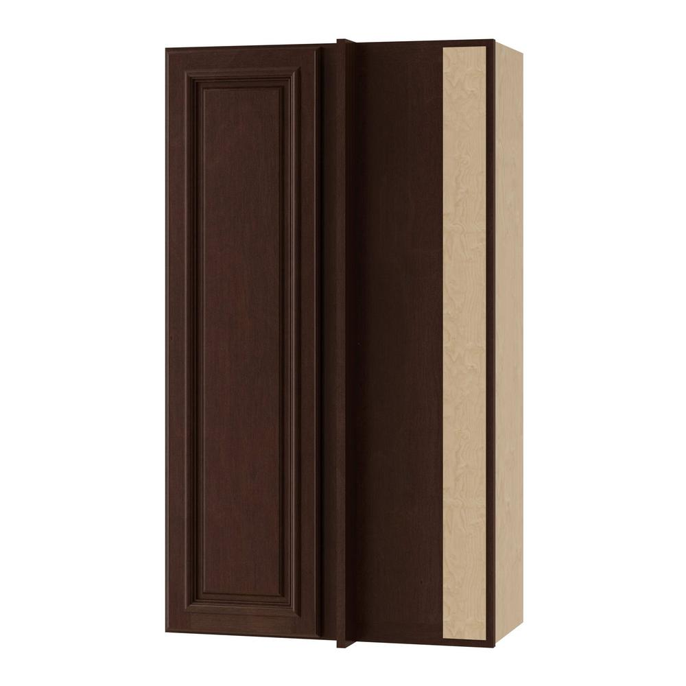 Home Decorators Collection Somerset Embled 24x42x12 In Single Door Hinge Right Wall Kitchen Blind Corner Cabinet Manganite