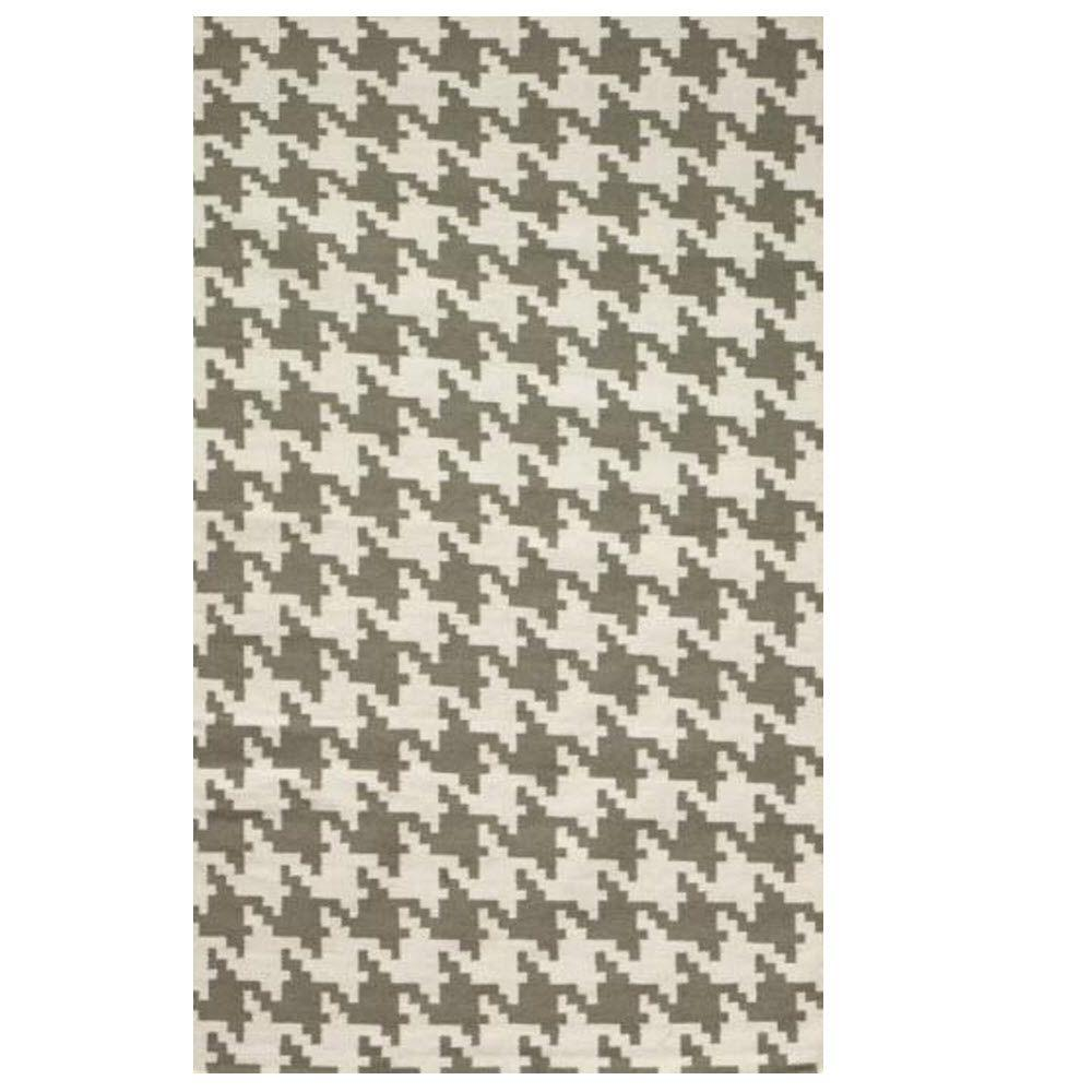 home decorators collection houndstooth grey 7 ft. x 9 ft. area rug