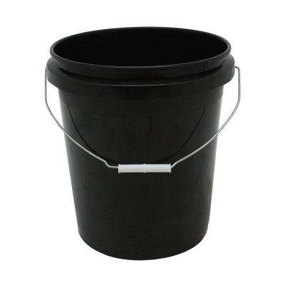 5 Gal. Black Plastic Bucket with Handle (3-Pack)