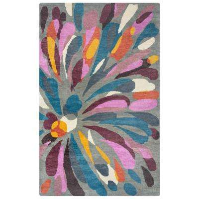 Bradberry Downs Medium Grey Abstract 3 ft. x 5 ft. Area Rug
