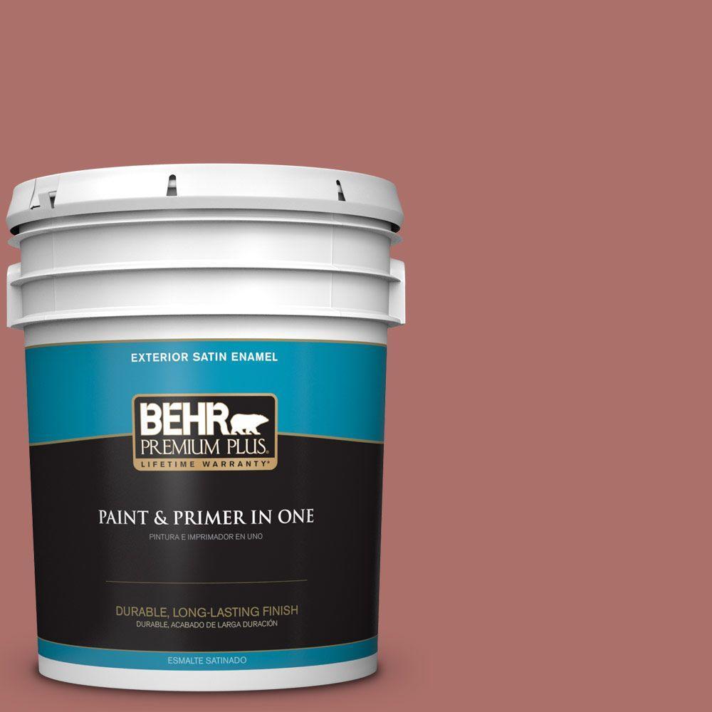BEHR Premium Plus 5-gal. #PMD-81 Tandoori Spice Satin Enamel Exterior Paint