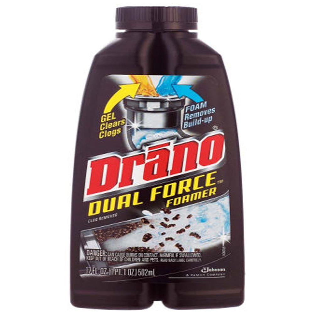 Drano 17 oz. Dual Force Foamer Clog Remover (8-Pack)