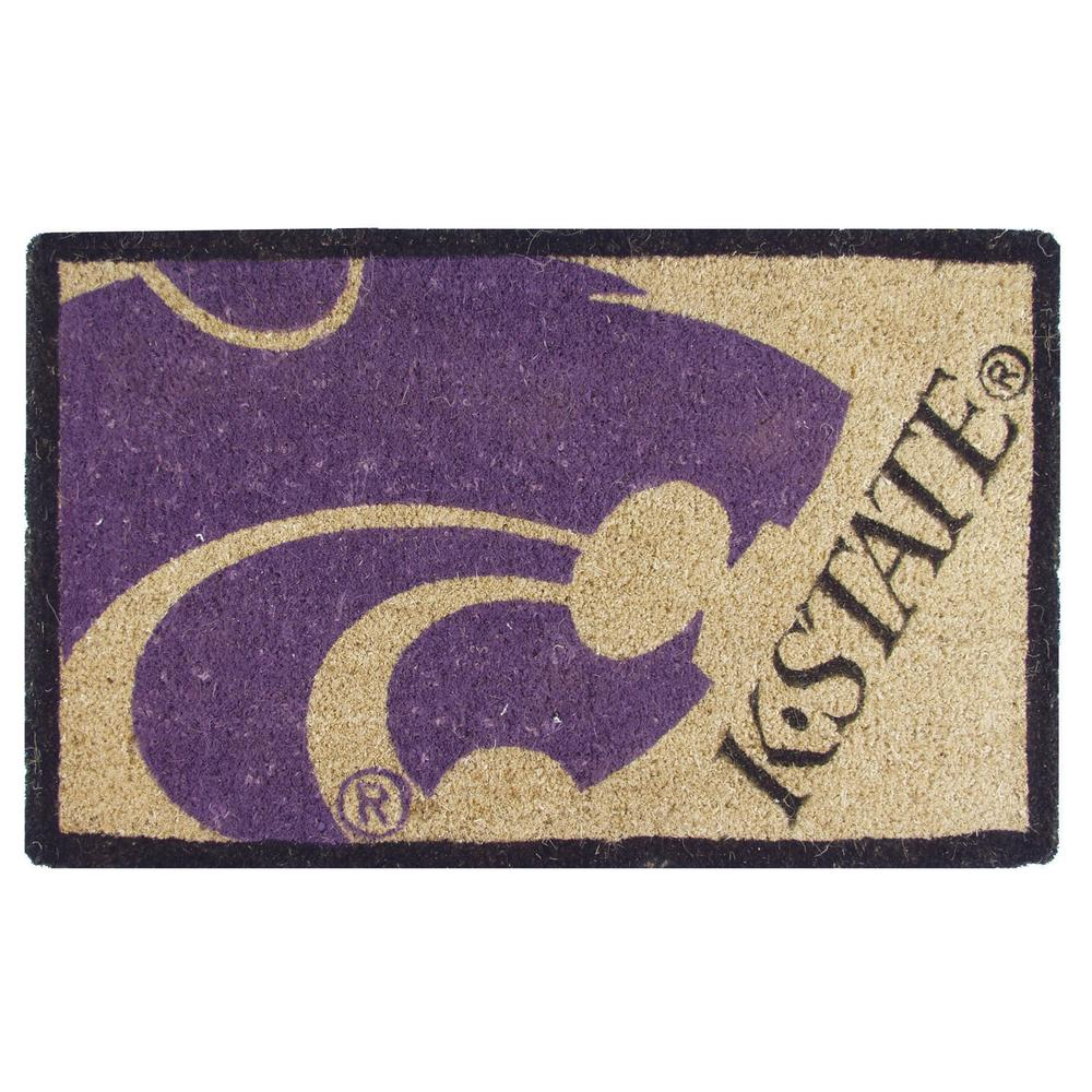 Evergreen Kansas State University 18 In. X 30 In. Welcome Mat