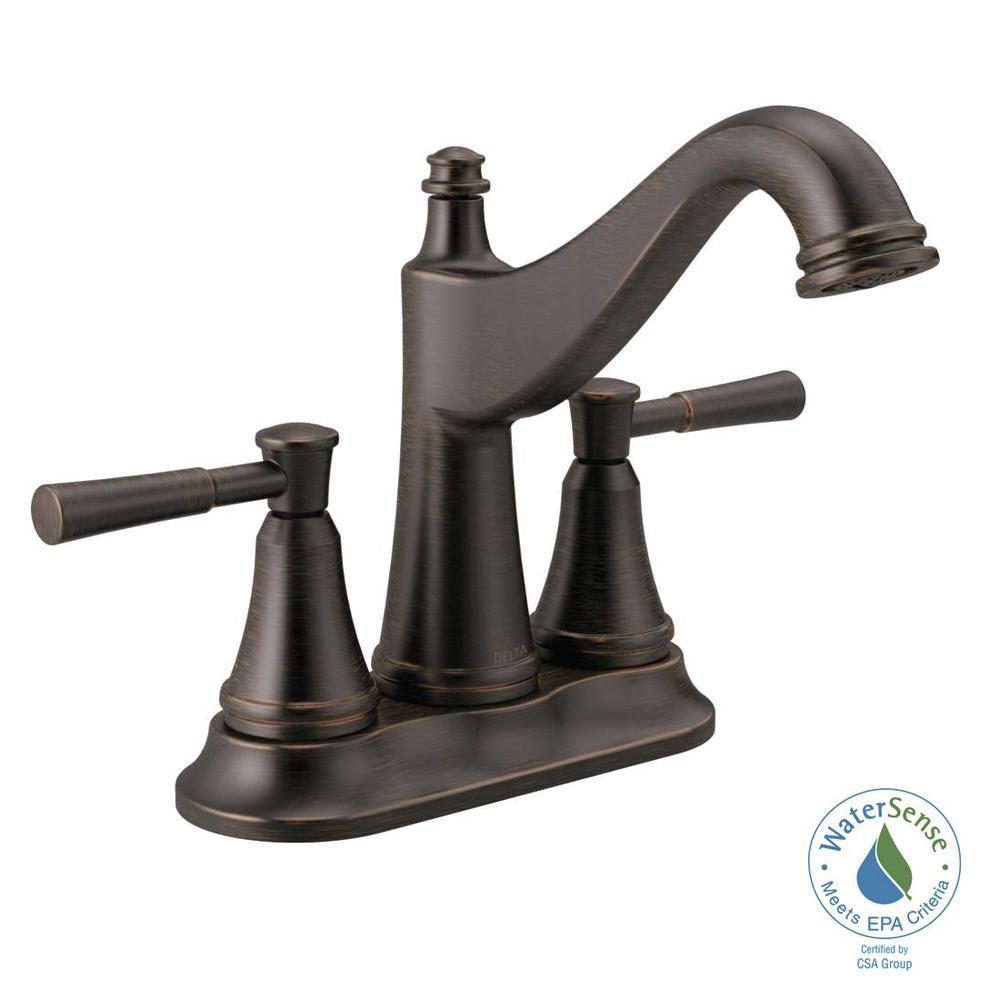 Mylan 4 in. Centerset 2-Handle Bathroom Faucet in Venetian Bronze