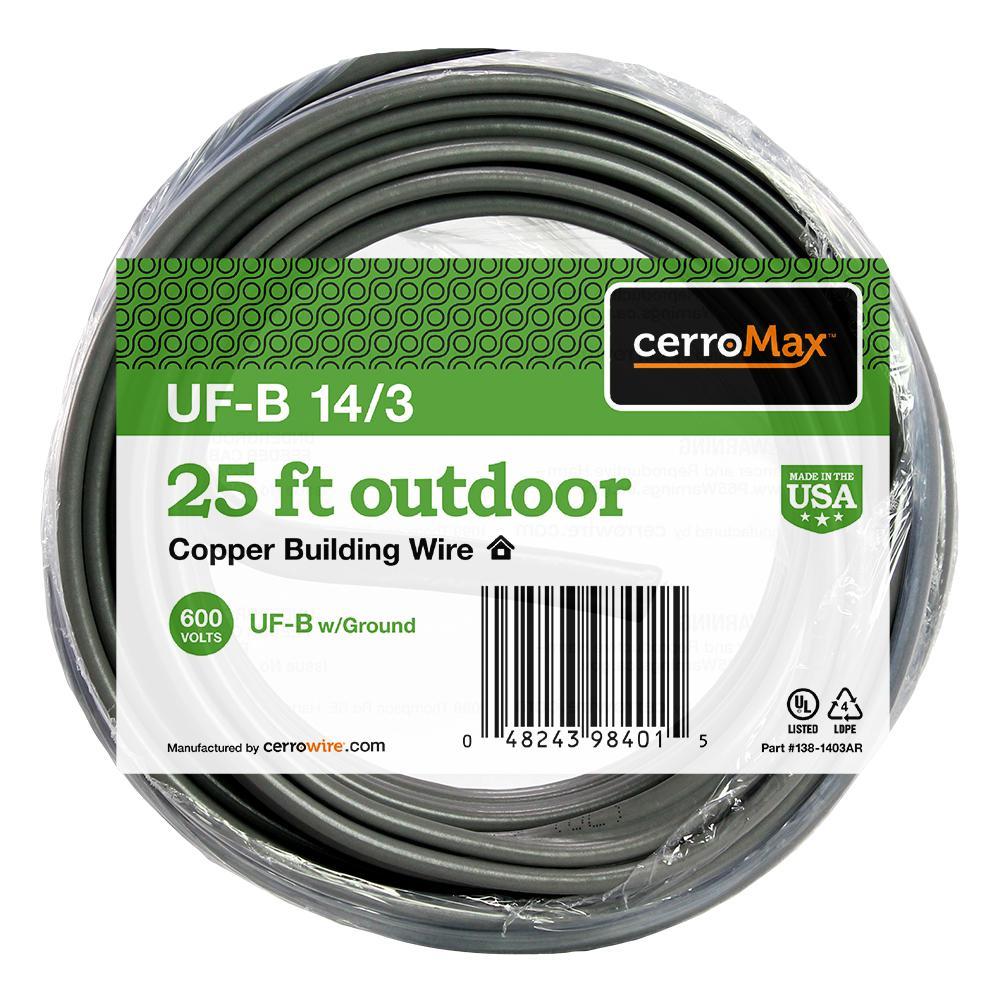 25 ft. 14/3 UF-B Wire