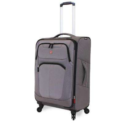 NeoLite Plus 24 in. Grey Spinner Suitcase