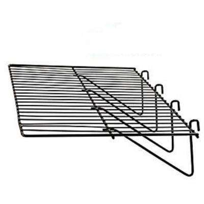 12 in. D x 24 in. L Slatwall and Gridwall Panel Display Shelf in Black (Pack of 3)