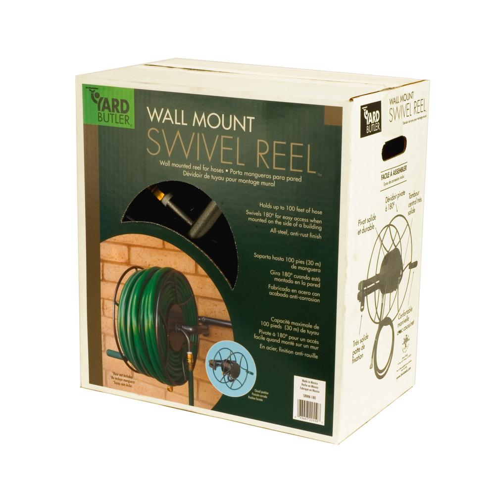 Yard Butler Wall Mount Swivel Reel 14025563 The Home Depot