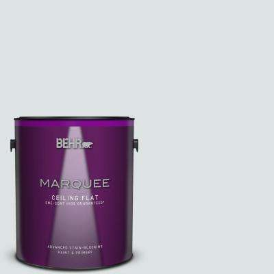 1 gal. #MQ3-27 Etched Glass One-Coat Hide Ceiling Flat Interior Paint and Primer in One