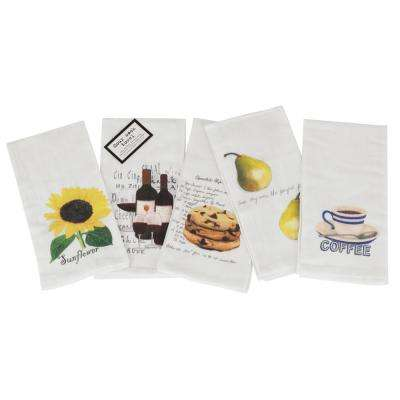 Vintage Flour Sack Printed Towels (Set of 5)