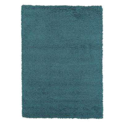 lifestyle shaggy collection turquoise 5 ft 3 in x 7 ft shag area rug