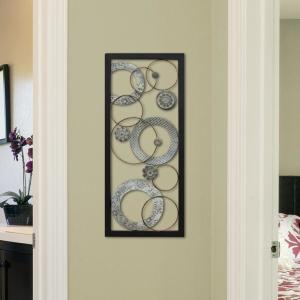 Metal Stamped Circles Panel Wall Decor by