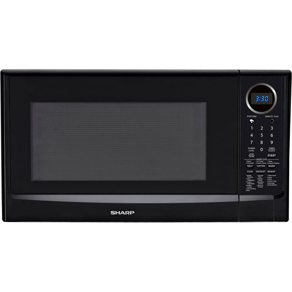 Sharp 1.4 cu. ft. 1100 Watt Countertop Microwave in Black-DISCONTINUED