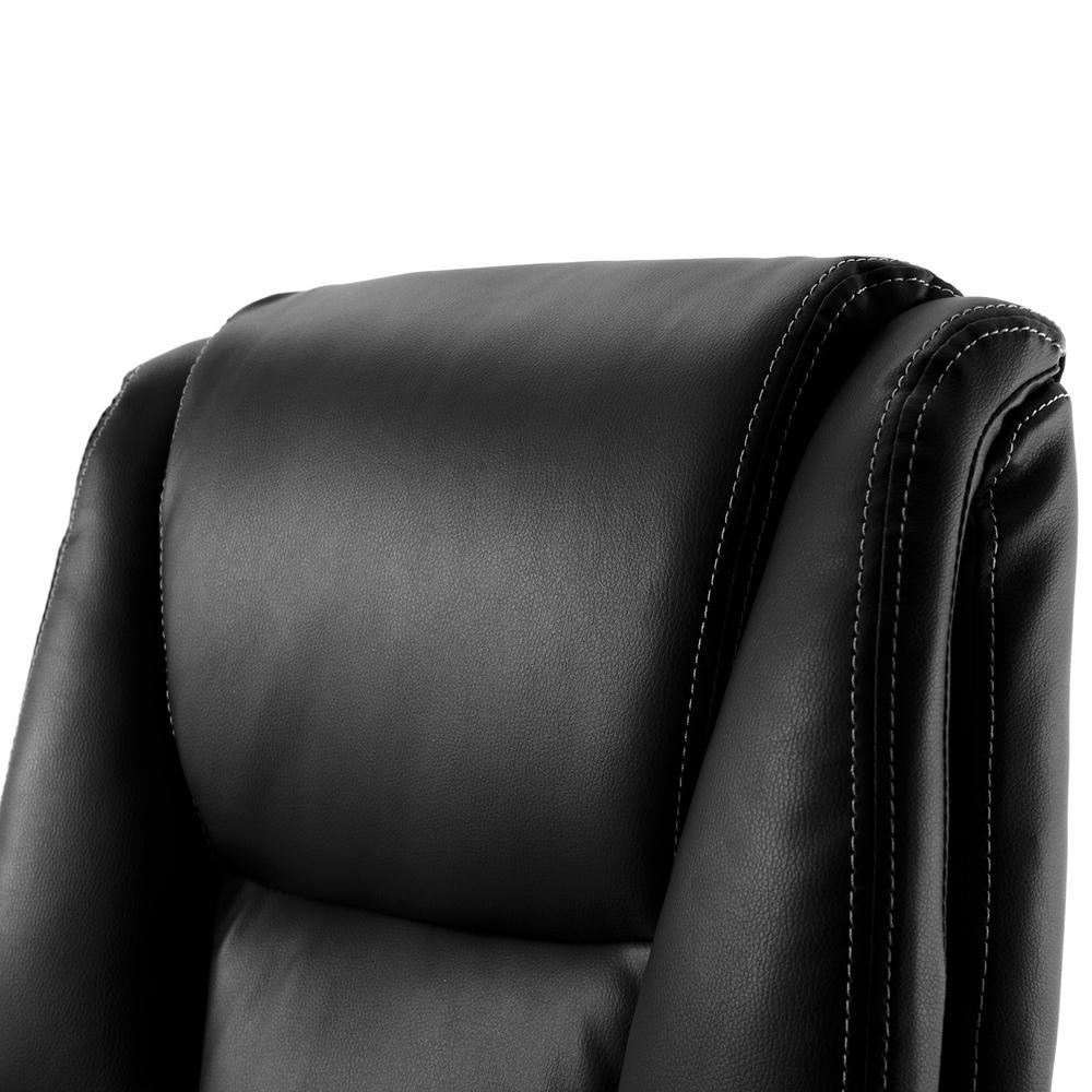 Astounding Merax Black High Back Leather Executive Swivel Office Evergreenethics Interior Chair Design Evergreenethicsorg