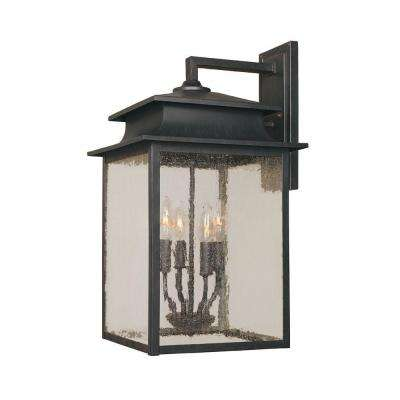 Sutton Collection 4-Light Rust Outdoor Sconce