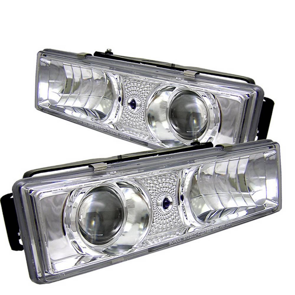 Spyder Auto C/K Series 1500/2500/3500 88-99/Tahoe 95-99/ukon  92-99/Silverado 88-98/Suburban 88-98 Projector Headlight-Chrome