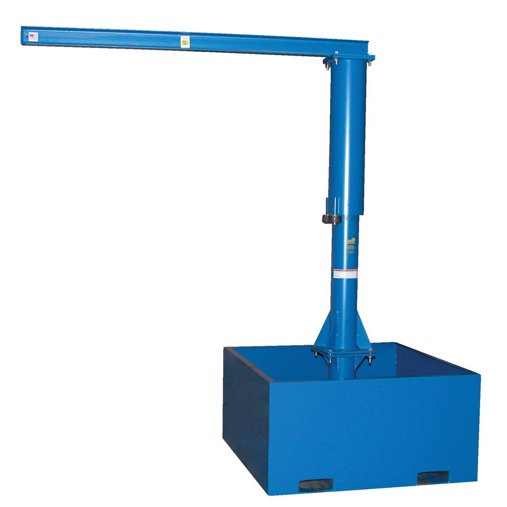 vestil 500 lb capacity 10 ft portable jib crane with empty base